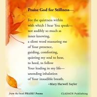 We Need a Season of Stillness